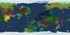 A map of the countries of Kerbin, from Kerbal Space Program.