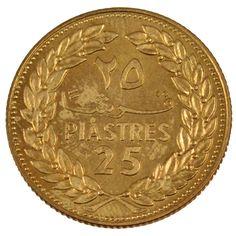 Lebanon Coins, Lebanon, Republic, 25 Piastres Essai All Currency, Phoenician, Gold And Silver Coins, Beirut Lebanon, Rare Coins, Coin Collecting, Rare Photos, West Virginia, Precious Metals