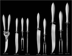 Guide to servers and utensils -- carving tools