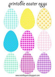 Oeufs de Pâques à imprimer pour décoration