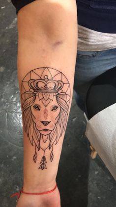 Forearm tattoo lion tattoo women