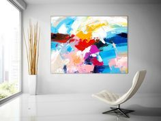 Extra Large Wall Art on Canvas Original Abstract Paintings Large Abstract Wall Art, Abstract Paintings, Canvas Wall Art, Wall Art Prints, Canvas Paintings, Hallway Art, Hallway Ideas, Texture Painting On Canvas, Large Painting