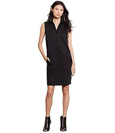 Belk 139 Lauren Ralph Lauren Complete Stretch Cotton Shift Dress #Dillards