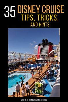 Here are the 35 best Disney Cruise tips, tricks, and hints that will make you a cruise pro, save you money and time, and help your vacation be a success. Cruise Travel, Cruise Vacation, Asia Travel, Travel Tips, Disney Travel, Texas Travel, Travel Ideas, Disney Cruise Tips, Disney Resorts