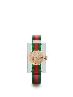 Web Plexiglas watch  | Gucci | MATCHESFASHION.COM US