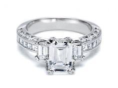 engagement rings, diamond, Emerald Cut Diamond Ring, Tacori