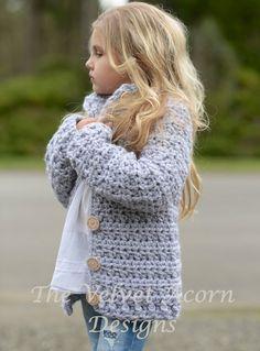 CROCHET PATTERN-The Dusklyn Sweater (2, 3/4, 5/7, 8/10, 11/13, 14/16, S/M, L/XL…