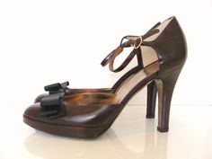 Dolce and Gabbana chocolate brown heels  www.shopacrewd.com