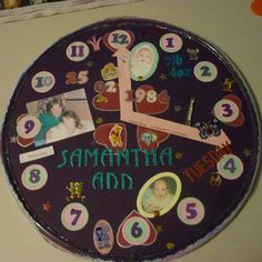 Scrapbook Birth Clock