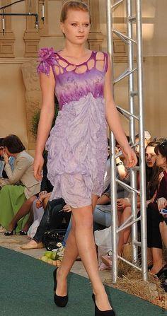 Платья ручной работы. Платье Сиреневый туман. Елена Пермикина. Ярмарка Мастеров. Нунофелтинг, шёлк натуральный, волокна льна
