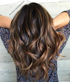 Thick Brown Hair With Caramel Ribbons