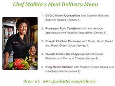 A new meal delivery menu is up for #Houston: www.foodsitter.com/delivery Sounds yummy Chef Malkia!