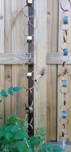 Copper & Vintage Brass Rain Chain