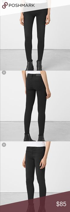 New All Saints Grace Jeans Soft Black size 26 Brand New All Saints Grace Jeans Soft Black size 26. Skinny fit, Mid rise, Body shaping All Saints Jeans Skinny