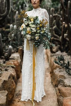 Luxe Inspiration at Logwoods Homestead wild bouquet with native Australian flowerswild bouquet with native Australian flowers Poppy Wedding Bouquets, Yellow Bouquets, Bride Bouquets, Floral Wedding, Wedding Flowers, Boho Wedding, Boho Bride, Bouquet Flowers, Wedding Shoot
