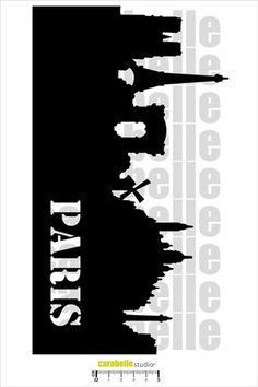 Carabelle Studio A4 Mask Stencil-Stars White//Transparent