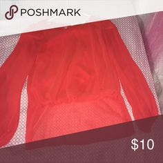 Blouse Hi low type of blouse. The front is short and the back of the shirt is long as seen on the picture. Good condition wore it once for Valentine's Day two years ago. Tops