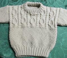Baby Boy Knitting Patterns, Baby Sweater Patterns, Baby Sweater Knitting Pattern, Knit Baby Sweaters, Knitted Baby Clothes, Boys Sweaters, Knitting For Kids, Baby Knitting Patterns, Pull Bebe
