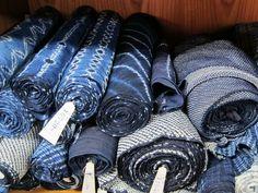 Shibori dyed fabrics, from Aizen Kobo, Kyoto //  Blog | TWOFOLD