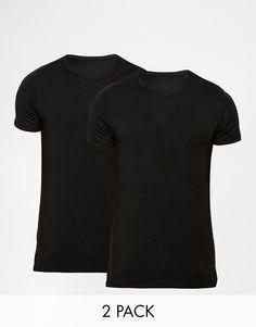 T-Shirt im Set von Jack & Jones weiches Jersey Rundhalsausschnitt reguläre Passform - entspricht den Größenangaben Maschinenwäsche 92% Baumwolle, 8% Elastan Unser Model trägt Größe M und ist 185,5 cm/6 Fuß, 1 Zoll groß Zweierset