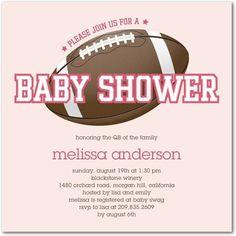 Rookie Quarterback: Chenille - Baby Shower Invitations in Chenille | Fine Moments