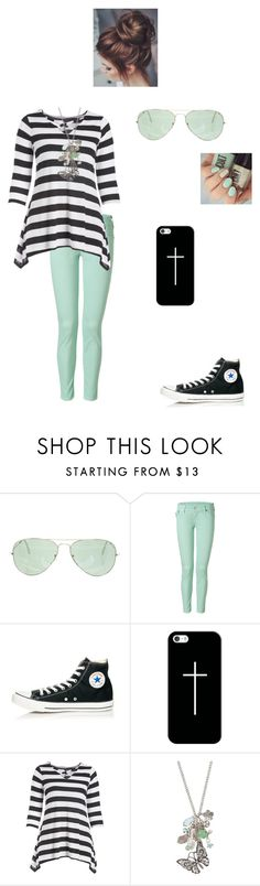"""""""Mint green!"""" by modest-flute ❤ liked on Polyvore featuring Ray-Ban, True Religion, Converse, Casetify and maurices"""