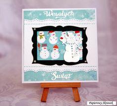 Christmas card with snowmen
