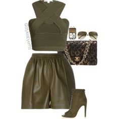 A fashion look from March 2016 featuring cropped tank top, short shorts and heeled booties. Browse and shop related looks. Classy Outfits, Sexy Outfits, Stylish Outfits, Fashion Outfits, Fashion Trends, Girl Fashion, Fashion Looks, Womens Fashion, Polyvore Outfits