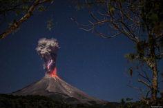 Vocan colima, México. Time lapse