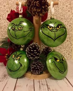 Grin check ornaments