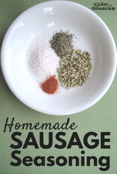 This easy homemade sausage seasoning recipes can be used with any meat. Plus you avoid MSG sugar and chemical additives by making homemade Italian or spicy sausage. Just a few simple ingredients is all you need. Homemade Sausage Seasoning Recipe, Italian Sausage Seasoning, Breakfast Sausage Seasoning, Sausage Spices, Spicy Sausage, Sausage Breakfast, Eckrich Sausage, Homemade Spices, Homemade Seasonings