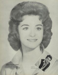 """Patricia Roberts - the 1963 """"Miss Indecatur"""" of Decatur high school in Decatur, Georgia. She was awarded the title by actor George Hamilton.  #1963 #Decatur #yearbook # #GeorgeHamilton #MissIndecatur"""