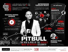 Hip-Hop Superstar #Pitbull Flows On #Facebook #infographics