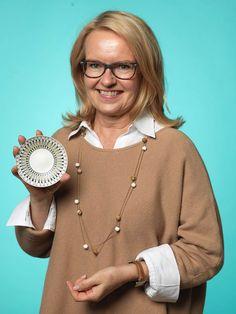 Tia Eriksson, Uppsala, köpte ett tunt snyggt fat från Arabia för 100 kr,