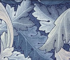 Acanthus Tapestry Upholstery Fabric An iconic William Morris pattern reproduced as a tapestry fabric in indigo and silver greys.