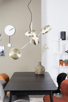 Gringo hanging multi pendant lamp. Adjustable swivel shades with striking brass plating.