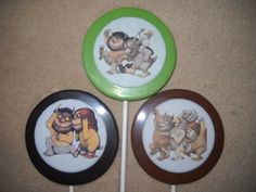 "1 chocolate where the wild things are edible decal 3"" round lollipop 