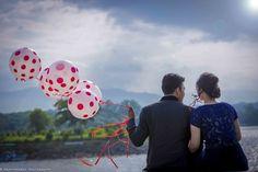 balloons, polka dot, props