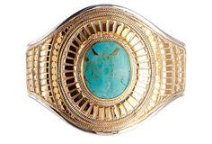 Turquoise Oval Bar Cuff on OneKingsLane.com