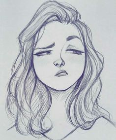best cute drawings, anime drawings, figure dirawing of techniques, great examples of drawings. Girl Drawing Sketches, Girly Drawings, Art Drawings Sketches Simple, Pencil Art Drawings, Cartoon Drawings, Drawing Lips, Sketch Art, Cartoon Art Styles, Anime Sketch