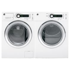 Tackle laundry in a smaller space with this GE washer and dryer bundle. It comes with a cu. front-load washer and a 4 cu. Ge Washer And Dryer, Laundry Dryer, Stainless Steel Washers, Laundry Center, Canada Shopping, Front Load Washer, Electric Dryer, Cool Things To Buy, Online Reviews