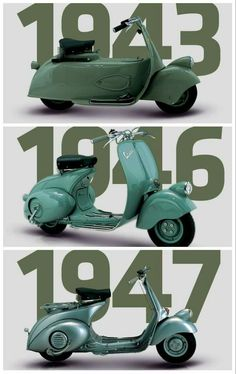 1943-1947 Piaggio Scooter, Vespa Bike, Best Scooter, Scooter Motorcycle, Scooter Girl, Vespa Scooters, Motos Trial, Classic Vespa, Donia