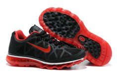 Womens Nike Air Max 2011 Black/Sport-Red Sneakers