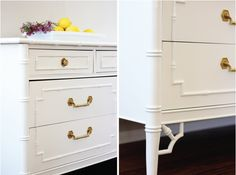 Faux Bamboo Dresser for changing table
