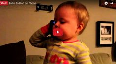 Baby Talks to Dad on Phone - Funniest Video Ever - You Can't Stop Laughing ! - So adorable Cute Little Baby, Little Babies, Funny Babies, Cute Babies, Baby Smiles, Tough Day, Christian Songs, Can't Stop Laughing, Kids Corner