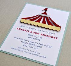 Under the big top birthday shower invitation Circus Birthday, Circus Party, Halloween Birthday, 4th Birthday Parties, 2nd Birthday, Birthday Ideas, Carnival Invitations, Carnival Themes, Shower Invitations