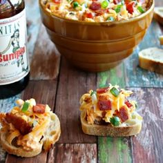 A fabulous dip made with cheese, bacon and beer.
