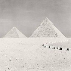 Michael Kenna. Pyramids, Egypt.