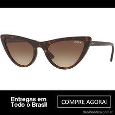 Os estilosos Óculos de Sol Vogue Eyewear VO5211S by Gigi Hadid podem ser  encontrados em armações Dark Havana e Marrom Gradiente , que são super  tendência ... 7ea4076271