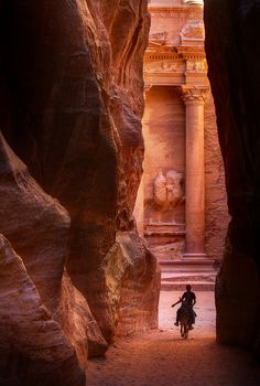 Petra, Jordan - Been there and I totally felt like Indiana Jones! plus, the camel had a New Kids on the Block blanket under the saddle...how'd that get there?